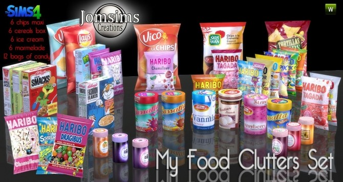 Sims 4 Food Clutter at Jomsims Creations