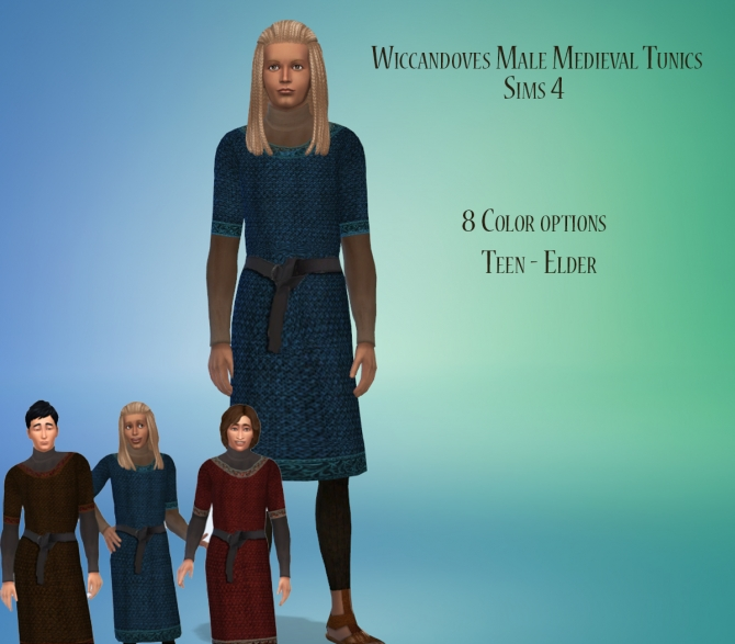 Medieval Mens Tunics By Wiccandove At Simsworkshop 187 Sims