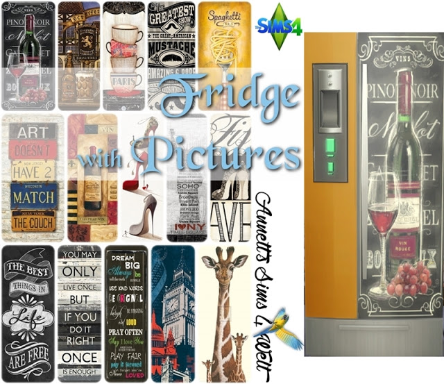 Sims 4 Fridge with Pictures at Annett's Sims 4 Welt