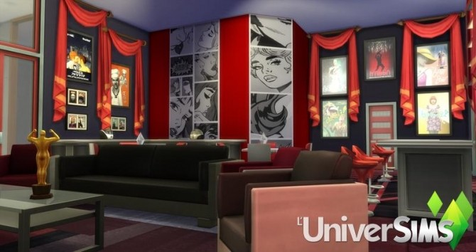 Red carpet home theater salon by olideg at l universims for Cinema a salon