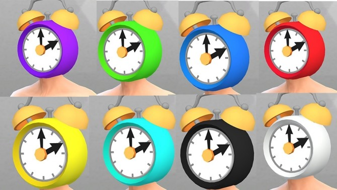 Sims 4 Clock Head by Kneph at Mod The Sims