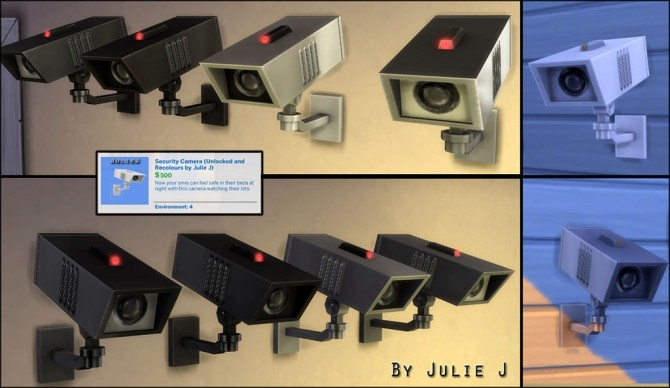 Sims 4 Security Camera Made Buyable and Recolours by Julie J at Mod The Sims