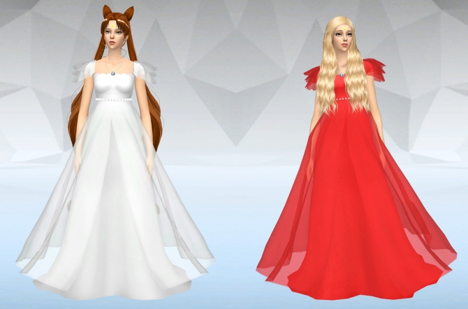 Princess Small Lady Dress Hair At Silvermoon Sims 187 Sims