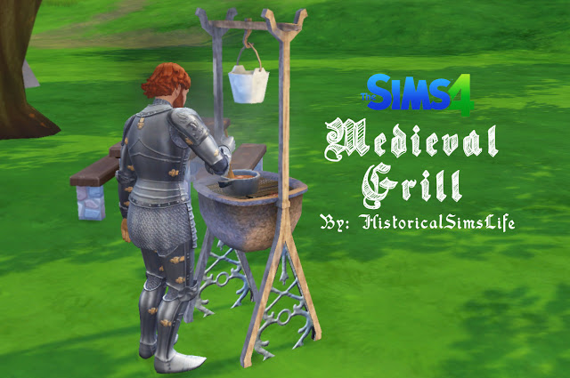 Sims 4 Early Civilization Medieval Grill by Anni K at Historical Sims Life