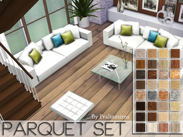 Parquet Floors Set by Pralinesims at TSR image 9102 Sims 4 Updates