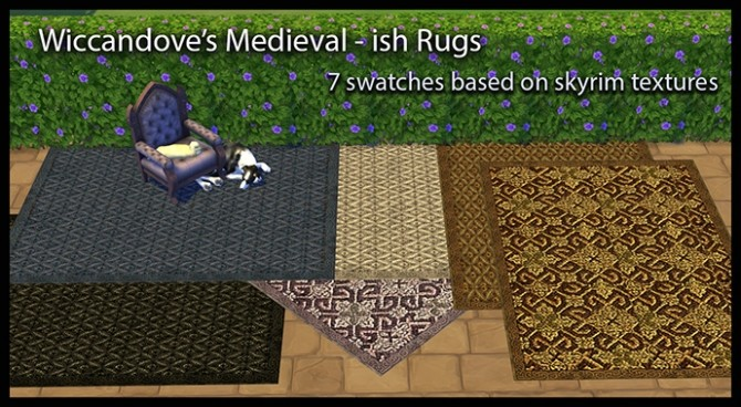 Sims 4 Medieval ish Rug by Wiccandove at SimsWorkshop