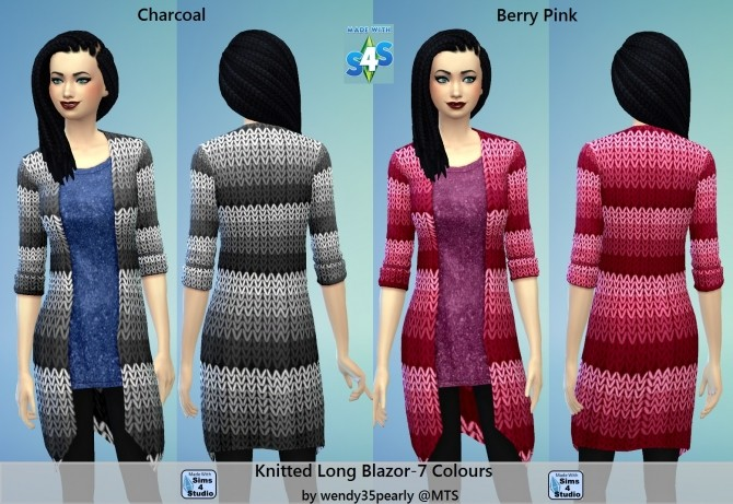 7 Knitted Blazor Long for Females by wendy35pearly at Mod The Sims image 918 670x461 Sims 4 Updates