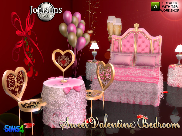 Sweet Valentine Bedroom by jomsims at TSR image 920 Sims 4 Updates