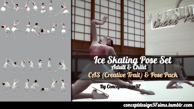 Ice Skating Pose Set By Conceptdesign97 At Simsworkshop