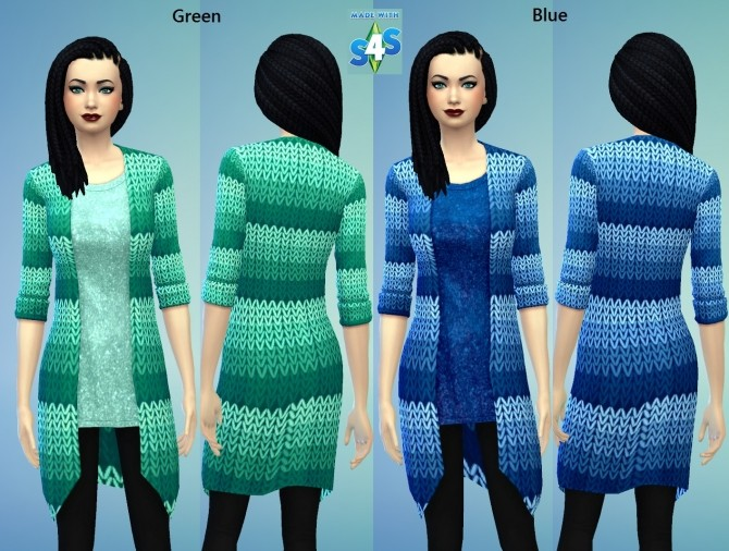 7 Knitted Blazor Long for Females by wendy35pearly at Mod The Sims image 924 670x506 Sims 4 Updates