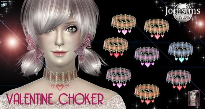 Sims 4 Valentine choker at Jomsims Creations