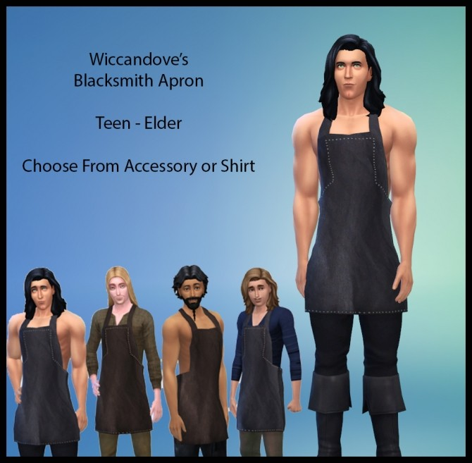 Sims 4 Wiccandoves Blacksmith Apron by Wiccandove at SimsWorkshop