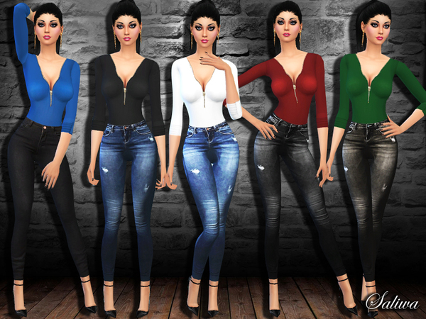Casual Fashion Fit Outfit by Saliwa at TSR image 970 Sims 4 Updates
