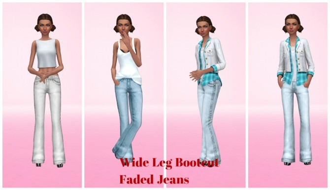 Wider Bootcut Jeans by Annabellee25 at SimsWorkshop image 9917 670x385 Sims 4 Updates