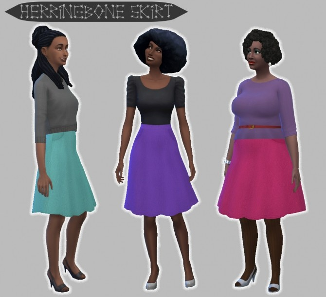 Herringbone Skirt with Pockets by pandaseal at Mod The Sims image 995 670x611 Sims 4 Updates