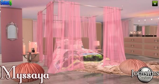 Missaya Bedroom At Jomsims Creations 187 Sims 4 Updates