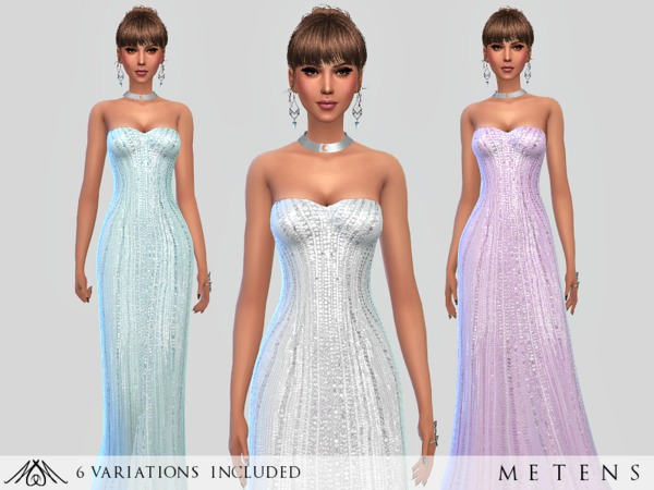 Sims 4 Tresor Gown by Metens at TSR