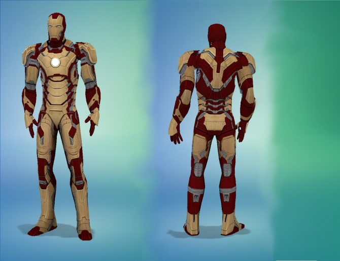 Iron Man Mark 42 Suit By G1g2 At Simsworkshop 187 Sims 4 Updates
