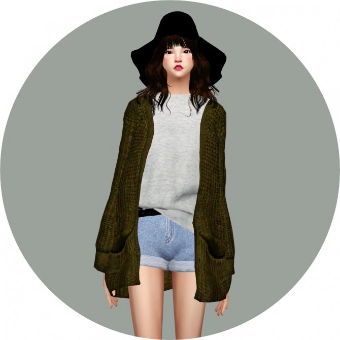 ACC Loose fit Cardigan at Marigold image 1013 670x670 Sims 4 Updates