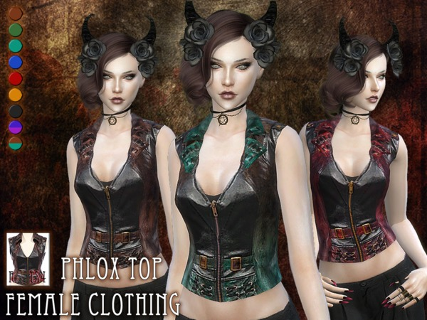 Sims 4 Phlox top by RemusSirion at TSR