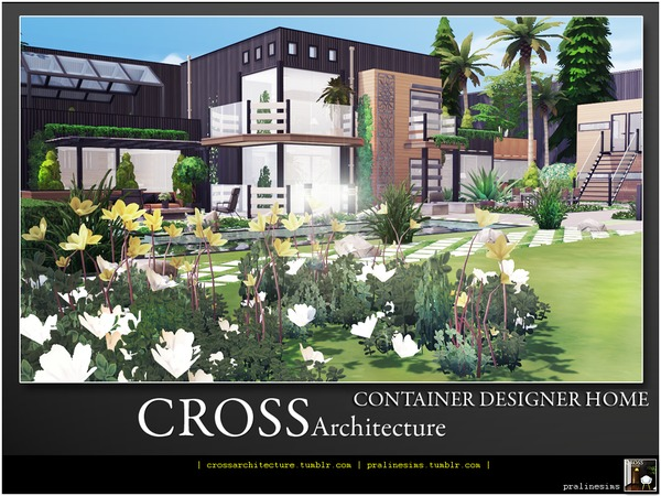 Sims 4 Container Designer Home by Pralinesims at TSR
