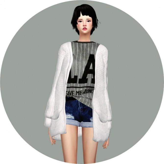 ACC Loose fit Cardigan at Marigold image 1032 670x670 Sims 4 Updates