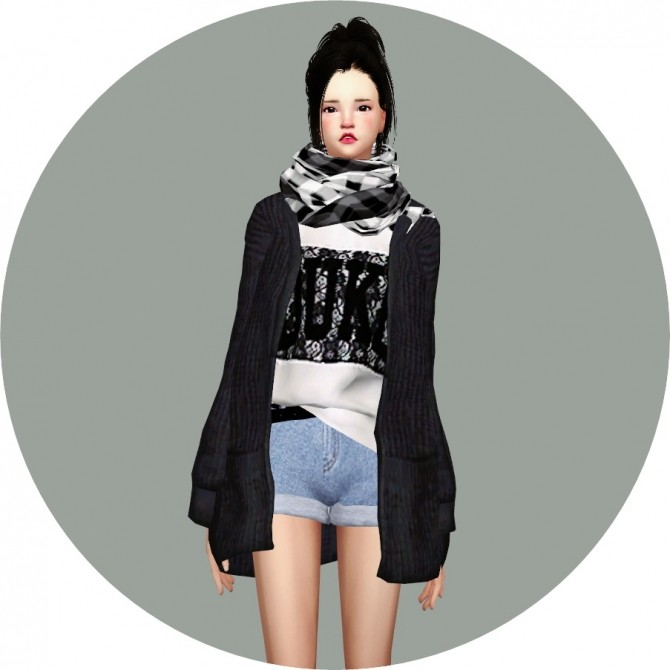 ACC Loose fit Cardigan at Marigold image 1042 670x670 Sims 4 Updates