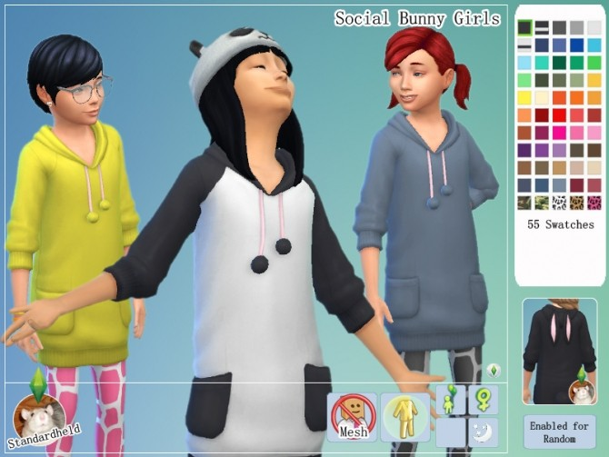 Social Bunny Girls by Standardheld at SimsWorkshop image 10514 670x503 Sims 4 Updates