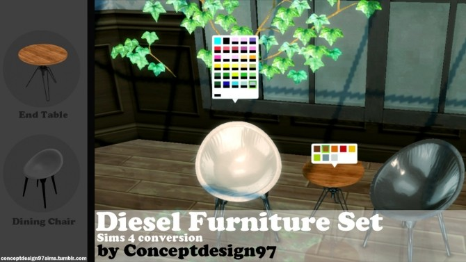 Diesel Furniture Set conversion at ConceptDesign97 image 10515 670x377 Sims 4 Updates