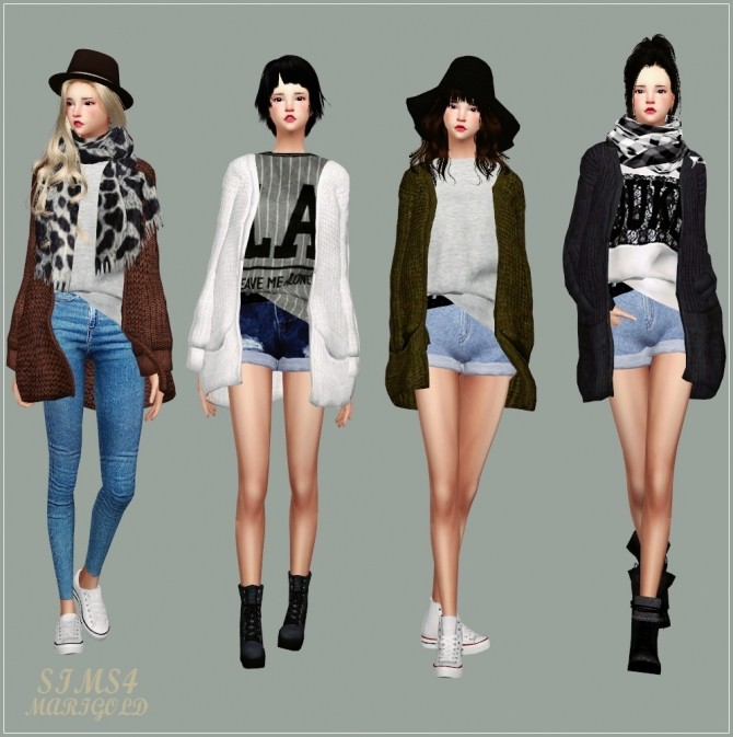 ACC Loose fit Cardigan at Marigold image 1052 670x673 Sims 4 Updates