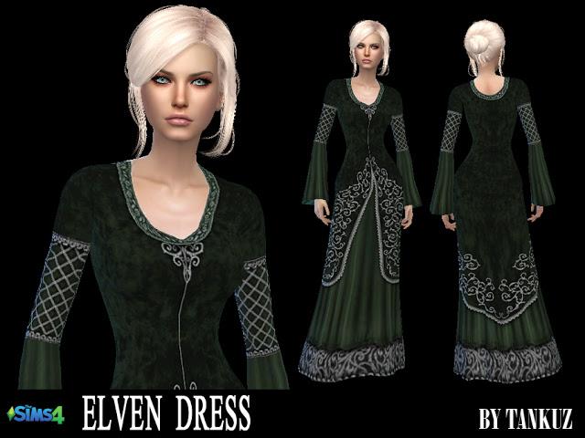 Elven Dress at Tankuz Sims4 image 10613 Sims 4 Updates