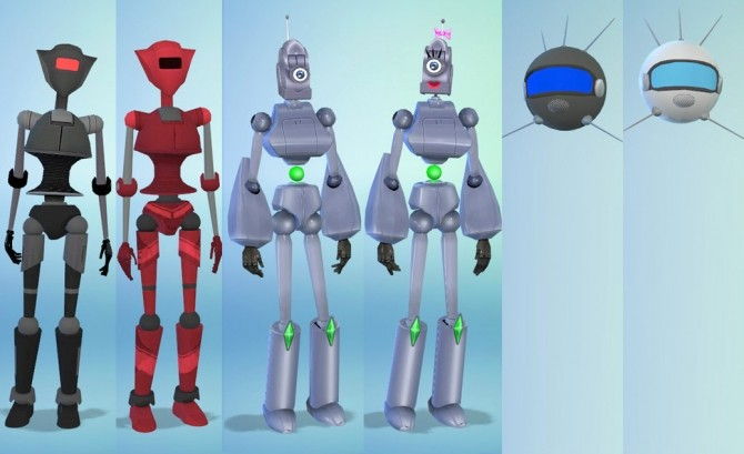 Sims 4 Tiny Robots Kids Robot Costumes by Esmeralda at Mod The Sims