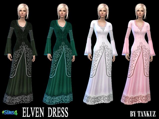 Elven Dress at Tankuz Sims4 image 10713 Sims 4 Updates