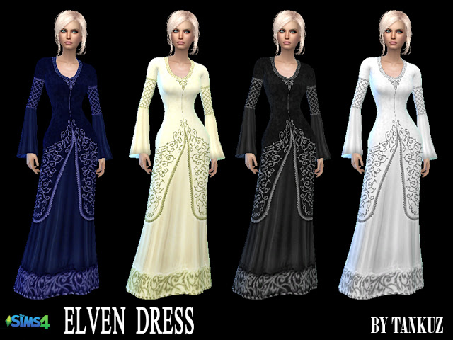 Elven Dress at Tankuz Sims4 image 10913 Sims 4 Updates
