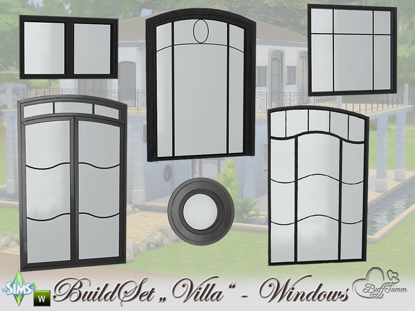 Build A Villa Windows and Doors by BuffSumm at TSR image 11 Sims 4 Updates