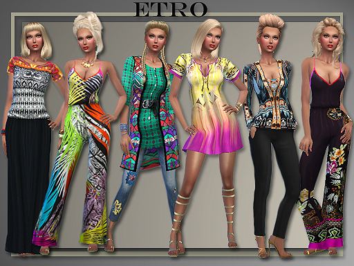 Spring 2016 designer outfits by Judie at All About Style image 1100 Sims 4 Updates