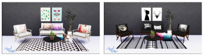 Sims 4 Collection of Pillows 2 at Victor Miguel