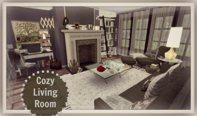 Sims 4 Cozy Living Room at Dinha Gamer