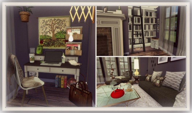 Cozy Living Room at Dinha Gamer » Sims 4 Updates