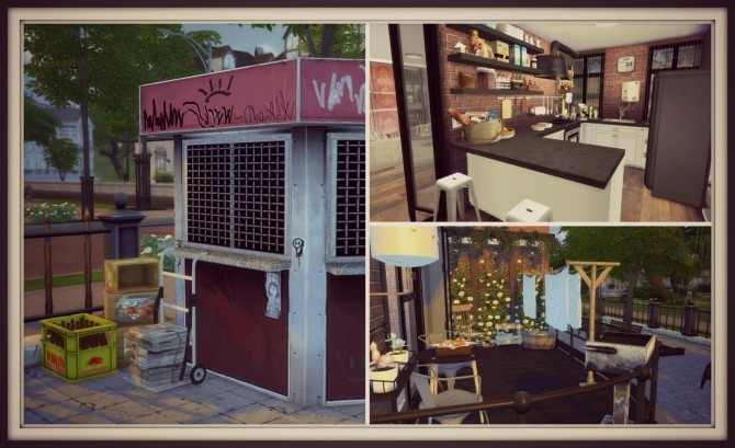 Sims 4 Building on Newcrest Cozy Loft at Dinha Gamer