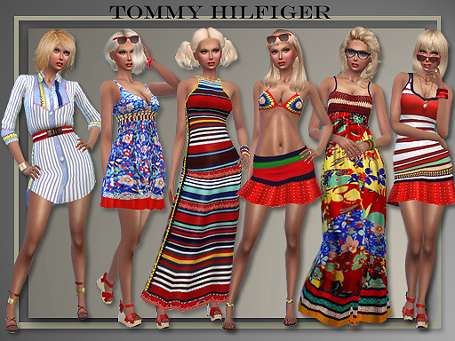 5 outfits T.H. Spring 2016 by Judie at All About Style image 1190 Sims 4 Updates