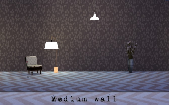 Sims 4 Brown retro wallpaper by Druga at Mod The Sims