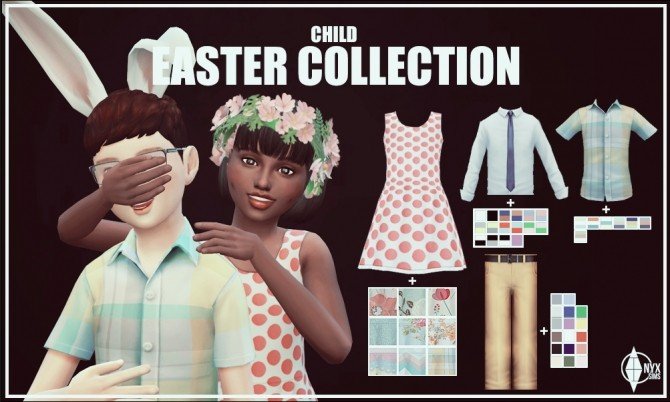 Sims 4 Happy Easter 2016 clothes by Kiara Rawks at Onyx Sims