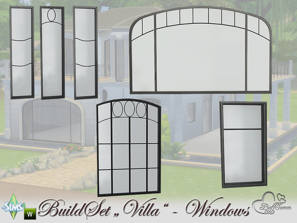 Build A Villa Windows and Doors by BuffSumm at TSR image 12 Sims 4 Updates