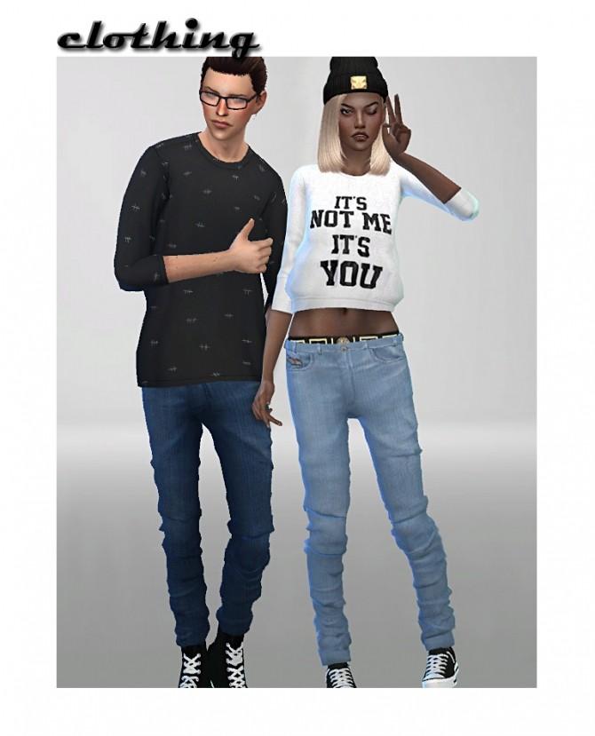 Sims 4 2 jeans set at ShojoAngel