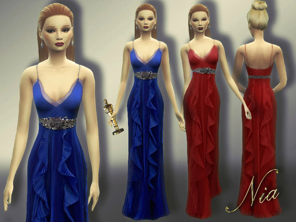 Sims 4 Brie Larsons 2016 Oscars Dress by Nia at TSR