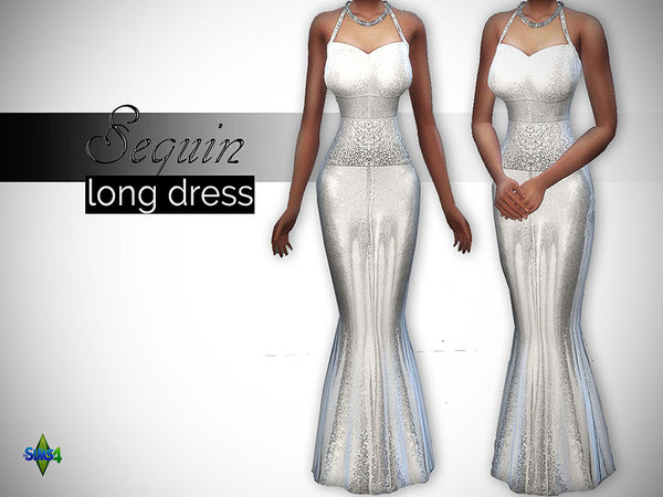 Sequin Long Dress by LRimshard at TSR image 1219 Sims 4 Updates