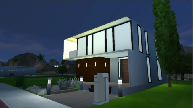 Sims 4 Modern House #1 by Morsant92 at Mod The Sims