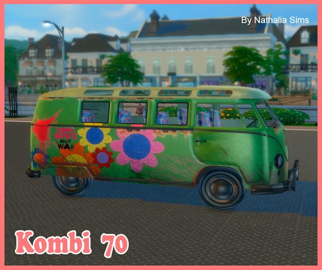 Kombi 70 VW Bus at Nathalia Sims image 1233 Sims 4 Updates