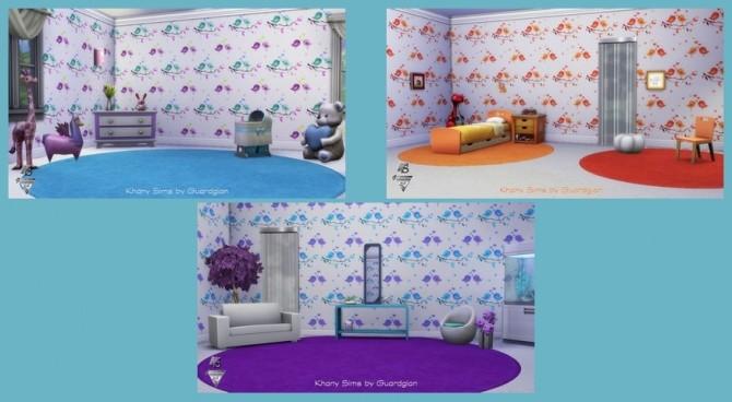 Sims 4 TWEET walls by Guardgian at Khany Sims